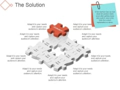 The Solution Template 2 Ppt PowerPoint Presentation Ideas