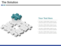 The Solution Template 2 Ppt PowerPoint Presentation Layouts Slideshow