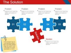 The Solution Template 2 Ppt PowerPoint Presentation Portfolio