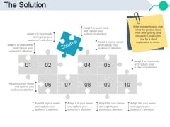 The Solution Template 2 Ppt PowerPoint Presentation Professional Rules