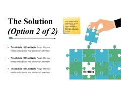 The Solution Template 2 Ppt PowerPoint Presentation Summary Clipart