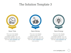 The Solution Template 3 Ppt PowerPoint Presentation Microsoft