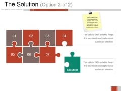 The Solution Template Ppt PowerPoint Presentation Styles Layouts