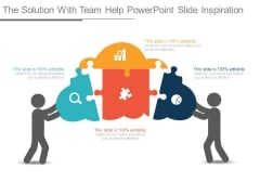The Solution With Team Help Powerpoint Slide Inspiration