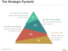 The Strategic Pyramid Ppt PowerPoint Presentation Gallery