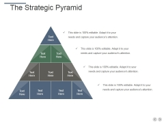 The Strategic Pyramid Ppt PowerPoint Presentation Slides Template
