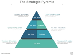 The Strategic Pyramid Ppt PowerPoint Presentation Styles
