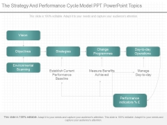 The Strategy And Performance Cycle Model Ppt Powerpoint Topics