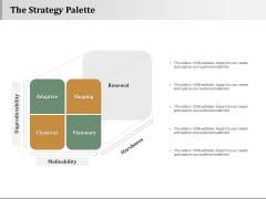 The Strategy Palette Strategy Approaches Ppt PowerPoint Presentation Infographic Template Graphics Example