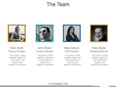 The Team Ppt PowerPoint Presentation Slides Demonstration