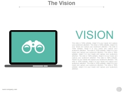The Vision Ppt PowerPoint Presentation Deck