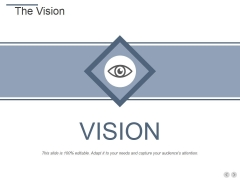 The Vision Ppt PowerPoint Presentation Professional Templates