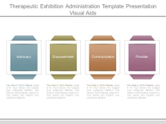 Therapeutic Exhibition Administration Template Presentation Visual Aids