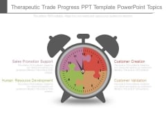 Therapeutic Trade Progress Ppt Template Powerpoint Topics