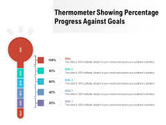 Thermometer Showing Percentage Progress Against Goals Ppt PowerPoint Presentation File Guidelines PDF