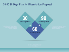 Thesis 30 60 90 Days Plan For Dissertation Proposal Ppt Styles Mockup PDF