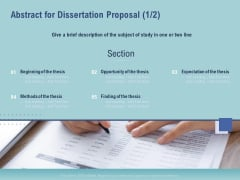 Thesis Abstract For Dissertation Proposal Section Ppt Show Designs Download PDF