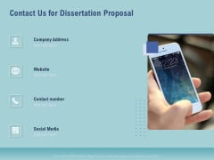 Thesis Contact Us For Dissertation Proposal Ppt Styles Structure PDF