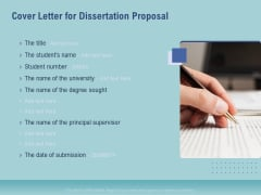 Thesis Cover Letter For Dissertation Proposal Ppt Inspiration Pictures PDF