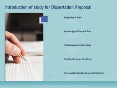 Thesis Introduction Of Study For Dissertation Proposal Ppt Show Display PDF