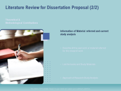 Thesis Literature Review For Dissertation Proposal Information Ppt Show Background Designs PDF