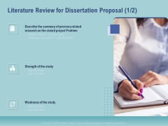 Thesis Literature Review For Dissertation Proposal Strength Ppt Styles Graphic Tips PDF