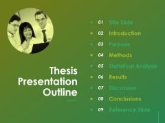 Thesis Presentation Outline Ppt Powerpoint Presentation File Format Ideas