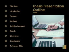 Thesis Presentation Outline Ppt PowerPoint Presentation Portfolio Good