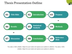 Thesis Presentation Outline Ppt PowerPoint Presentation Slides Graphic Images