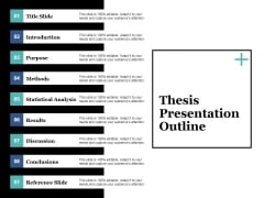 Thesis Presentation Outline Ppt PowerPoint Presentation Styles Demonstration