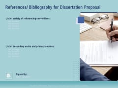 Thesis References Bibliography For Dissertation Proposal Ppt File Templates PDF
