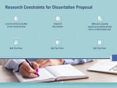 Thesis Research Constraints For Dissertation Proposal Ppt Model Aids PDF