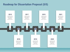 Thesis Roadmap For Dissertation Proposal 2015 To 2020 Ppt Infographic Template Sample PDF