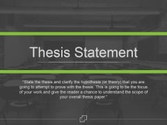 Thesis Statement Ppt PowerPoint Presentation Microsoft