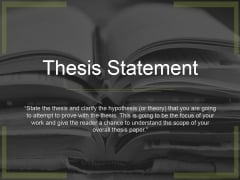 Thesis Statement Ppt PowerPoint Presentation Styles Graphics Template
