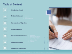 Thesis Table Of Content Ppt File Aids PDF