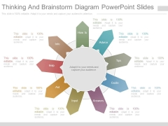 Thinking And Brainstorm Diagram Powerpoint Slides