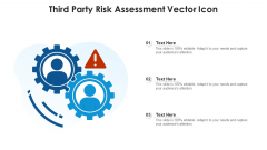 Third Party Risk Assessment Vector Icon Ppt PowerPoint Presentation Gallery Brochure PDF