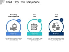 Third Party Risk Compliance Ppt PowerPoint Presentation Layouts Diagrams Cpb
