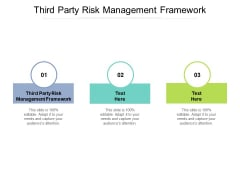 Third Party Risk Management Framework Ppt PowerPoint Presentation Styles Show Cpb