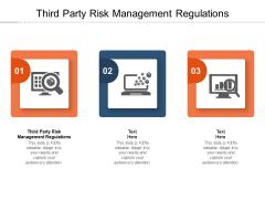 Third Party Risk Management Regulations Ppt PowerPoint Presentation Infographic Template Portrait Cpb Pdf