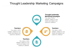 Thought Leadership Marketing Campaigns Ppt PowerPoint Presentation Professional Graphics Cpb Pdf