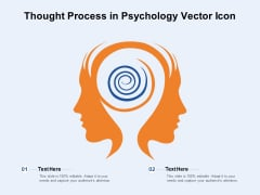 Thought Process In Psychology Vector Icon Ppt PowerPoint Presentation File Pictures PDF