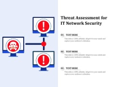 Threat Assessment For IT Network Security Ppt PowerPoint Presentation Gallery Example PDF