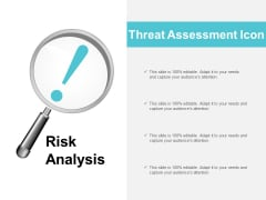 Threat Assessment Icon Ppt PowerPoint Presentation Show Tips