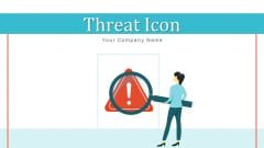 Threat Icon Business Risk Ppt PowerPoint Presentation Complete Deck With Slides