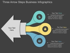 Three Arrow Steps Business Infographics Powerpoint Template