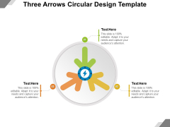 Three Arrows Circular Design Template Ppt PowerPoint Presentation File Graphic Tips PDF