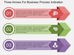 Three Arrows For Business Process Indication Powerpoint Template