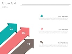 Three Arrows For Positioning In Marketing Powerpoint Template